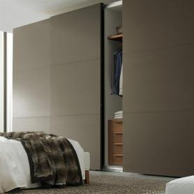 Taupe Sliding Door Wardrobe by Jesse