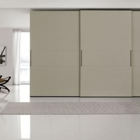 Large Gloss Sliding Door Wardrobe - Logo